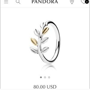Laurel Leaves Ring Size 5/50